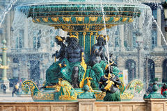 Fountain at the Place de la Concorde Stock Images