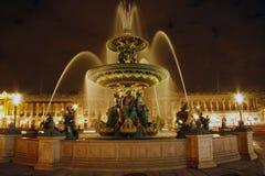 Fountain in Place de la Concorde Royalty Free Stock Image