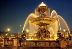 Fountain in Place de la Concorde. Royalty Free Stock Image