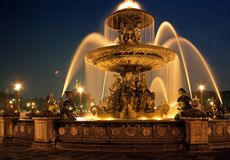 Fountain, Place de la Concorde, Paris. Stock Image