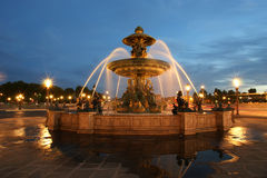 Fountain at the Place de la Concorde in Paris Stock Images