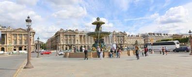 Fountain in Place de la Concorde Royalty Free Stock Photography