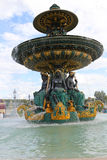 Fountain in Place de la Concorde Stock Images