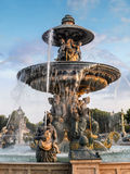 Fountain on Place de la Concorde Royalty Free Stock Images