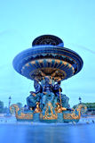 Fountain on Place de la Concorde, Paris, France Royalty Free Stock Image