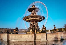 Fountain in the Place de la Concorde in Paris, France Royalty Free Stock Photo
