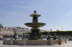 The fountain on the Place de la Concorde Royalty Free Stock Photography