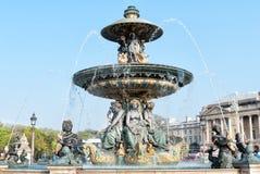 Fountain in Place de la Concorde in Paris Royalty Free Stock Photos