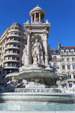 Fountain in Place des Jacobins Royalty Free Stock Photography