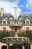 Fountain in Place des Vosges Stock Photography