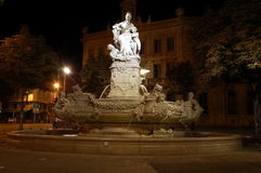 The fountain on Place  Henri Estrangin in Marseille Stock Images