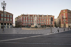 Fountain in Place Massena in Nice Stock Image