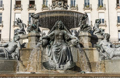Fountain of the place Royale. In Nantes, France Stock Image
