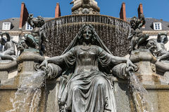 Fountain of the place Royale. In Nantes France Stock Photo