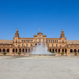 Fountain of Plaza de Espa�a, Seville, Spain Stock Images