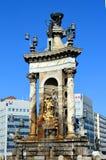 Fountain at Plaza de Espana in Barcelona. Spain stock image