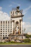 Fountain at Plaza de Espana in Barcelona Stock Photography