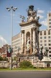 Fountain at Plaza de Espana in Barcelona Royalty Free Stock Image