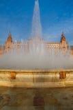 Fountain on Plaza de Espana, Seville, Andalusia, Spain Stock Photos