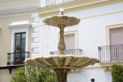 Fountain, Plaza de Pilar Redondo, Square, Zafra Stock Image