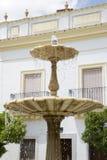 Fountain in the Plaza de Pilar Redondo Square, Zafra Royalty Free Stock Images