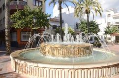 Stone fountain in Estepona Royalty Free Stock Image