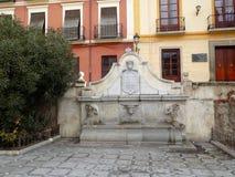 Fountain-Plaza Nueva-Granada. Fountain -Plaza Nueva-Granada-Andalusia-Spain Stock Photography