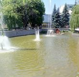 fountain, Poltava region stock photo