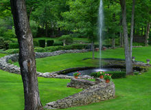 Fountain Pond stock photography