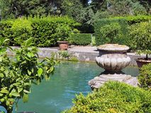 Fountain Pond, Villa d'Este, Tivoli, Italy Stock Photo