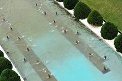 Fountain pool Stock Photos