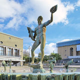 Fountain Poseidon in Gothenburg, Sweden Royalty Free Stock Image