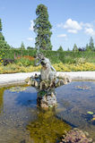 Fountain at Powerscourt house and gardens, Ireland. An old stately home in Ireland royalty free stock photos
