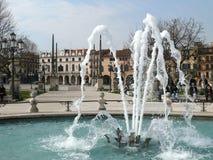 Fountain in Prato della Valle - Padova (Padua) - Italy Royalty Free Stock Photo
