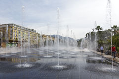 Fountain at Promenade du Paillon, Nice Stock Image
