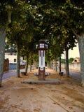 The fountain of Promenade of Misericordia of Canet de Mar stock photo