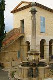 Fountain of provence. Typical provencal fountain of gourdon on french riviera Stock Images