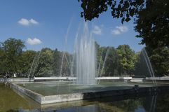 Fountain in public garden of Plovdiv town Royalty Free Stock Photography