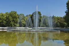 Fountain in public garden of Plovdiv town Royalty Free Stock Images