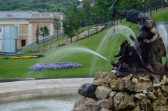Fountain. In a public park next to the Buda Castle Royalty Free Stock Photos