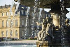Fountain putto , Stuttgart Royalty Free Stock Photos