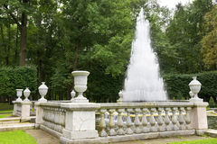 Fountain Pyramid in the Lower Park of Petergof Royalty Free Stock Image