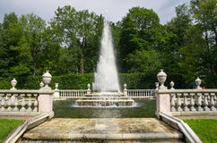 Fountain Pyramid in the Lower Park Stock Photography