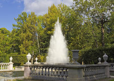 Fountain  Pyramid in the Lower Park of Peterhof. Stock Images