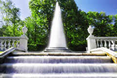 Fountain Pyramid  in Pertergof Royalty Free Stock Images