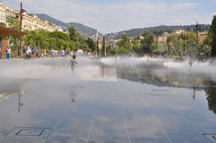 Fountain square in Nice, France Stock Photo