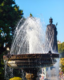 Fountain Queen Statiue Legislative Buildiing Victoria Canada Royalty Free Stock Images