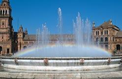 Fountain with raimbow Royalty Free Stock Photo