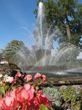 Fountain and rainbow royalty free stock images