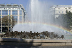 Fountain and rainbow Royalty Free Stock Photography